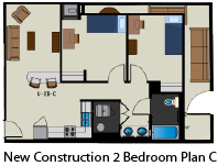 New Construction 2 Bed