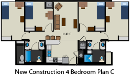 New Construction 4 Bed Plan C