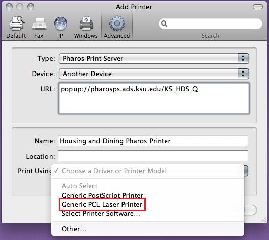 Generic Pcl Laser Printer Driver Mac